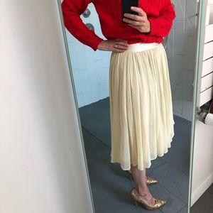 See by Chloe ivory cotton/silk midi skirt